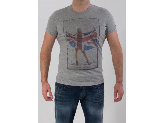 Pánske šedé tričko Pepe Jeans