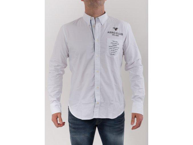 Pánska biela košeľa Aeronautica Militare