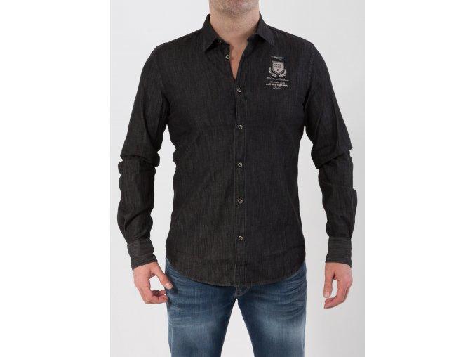 Pánska čierna košeľa Aeronautica Militare