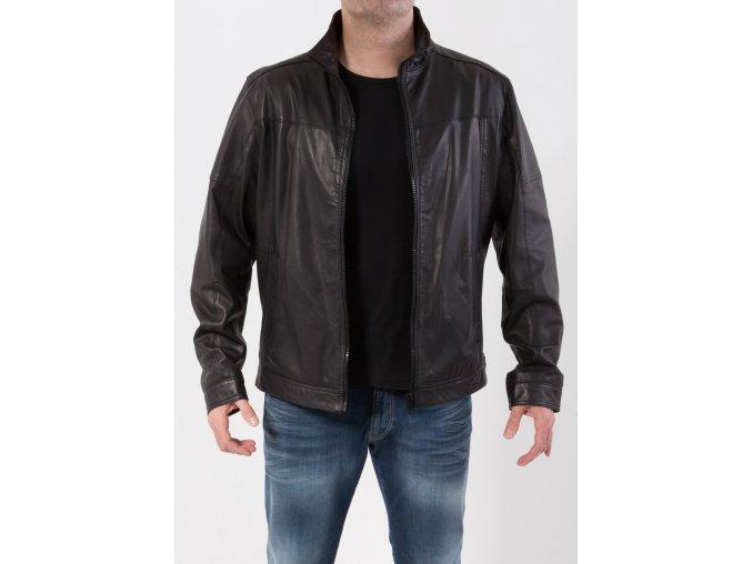 Pánska čierna kožená bunda Aldo Colitti