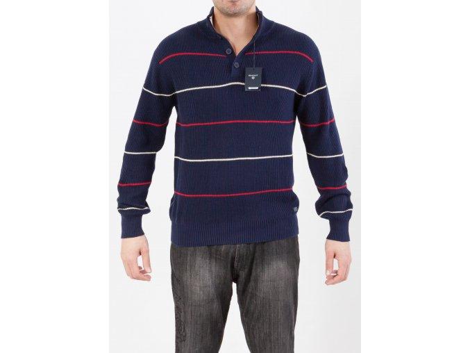 Pánsky hrubý tmavomodrý sveter Gant