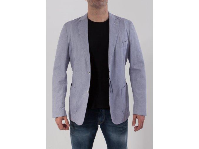 Pánske bielo-modré sako Gant