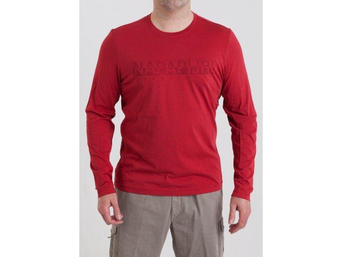Pánske tričko v červenej farbe Napapijri