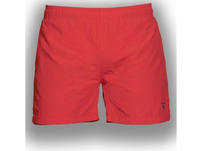 Pánske červené plavky Gant