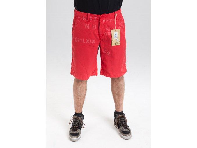 Pánske červené bermudy s potlačou Gant
