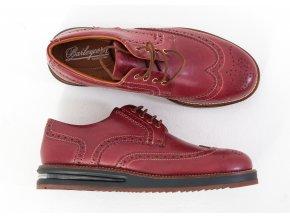 Bordové topánky Barleycorn