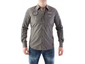 Pánska šedá košeľa Aeronautica Militare