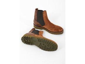 Pánske bledohnedé topánky Brimarts
