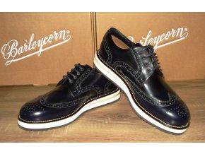 Čierne topánky s bielou podrážkou Barleycorn