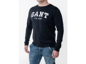 7f77c10fb5f9 Pánske tmavomodré tričko Gant s dlhým rukávom - TOP OUTLET