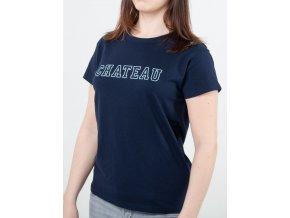 Tmavomodré dámske tričko Gant