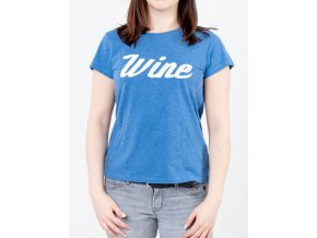 Modré dámske tričko s nápisom Wine od značky Gant