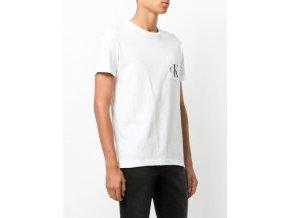white calvin klein logo printed t shirt mens t shirts vests white 2