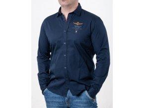 Pánska tmavomodrá košeľa Aeronautica Militare