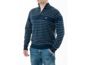Pánsky tmavomodrý pruhovaný sveter Gant