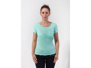 Dámske zelené tričko s kamienkami Emporio Armani