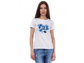 Dámske tričko s modrou potlačou Armani Jeans