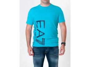 Pánske tyrkysové tričko Emporio Armani