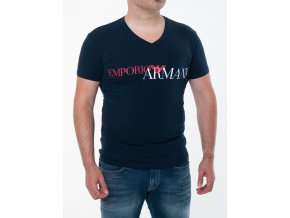 Pánske tmavomodré tričko Emporio Armani