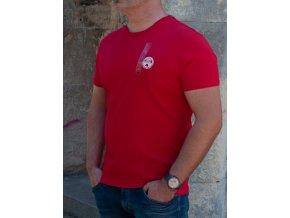 Pánske červené tričko Napapijri