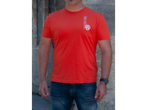 Pánske oranžové tričko Napapijri