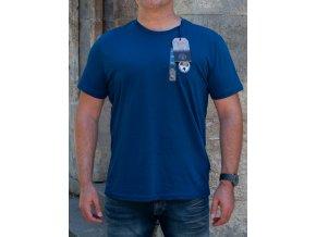Pánske modré tričko Napapijri