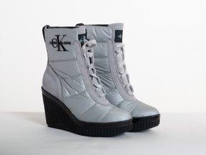 Dámske strieborné  zimné topánky Calvin Klein Jeans