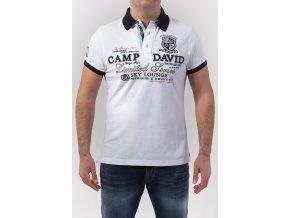 Pánske biele polotričko Camp David