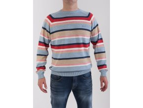 Pánsky bledomodrý pruhovaný sveter GANT