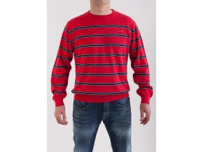 Pánsky červený pruhovaný sveter GANT