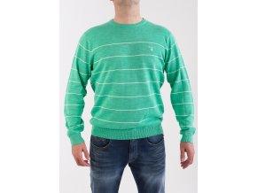 Pánsky zelený pruhovaný sveter GANT
