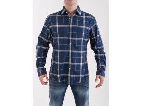 Pánska tmavomodrá kockovaná košeľa GANT