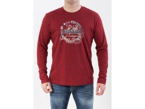 Pánske bordové tričko s dlhým rukávom Napapijri