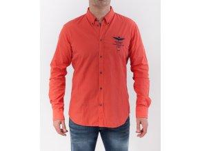Pánska oranžová košeľa Aeronautica Militare