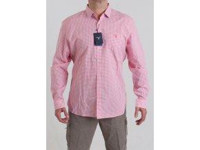 Pánska ružová kockovaná košeľa GANT