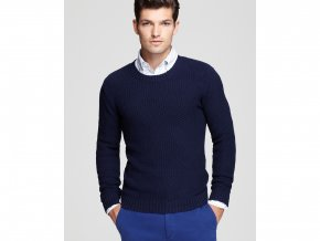 gant rugger navy pineapple knit crewneck sweater product 1 4401554 905572000