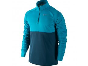 nike racer ls hz running shirt blue lagoon blue force 0
