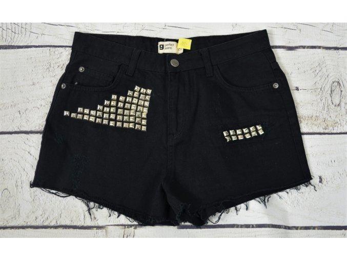 Perfect jeans černé  letní Kraťasy