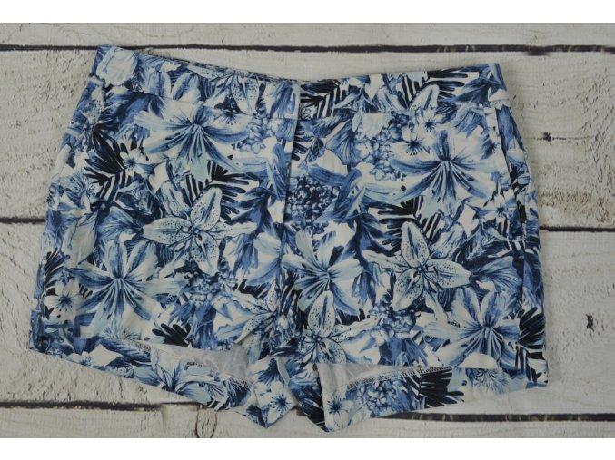 H&M modrobílé letní kraťasy