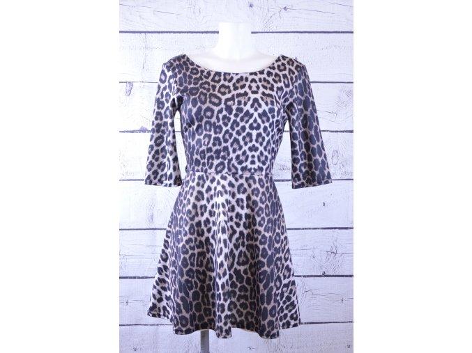 River island gepardované šaty
