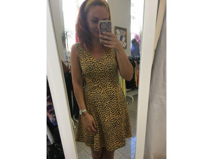 žluté letní šaty HM