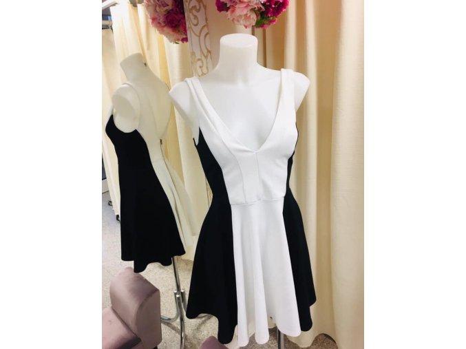 Černobílé šaty NEW LOOK