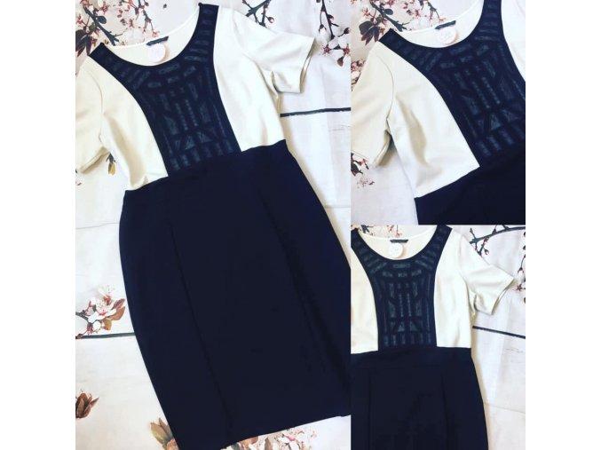 Šaty s černou aplikací M&S