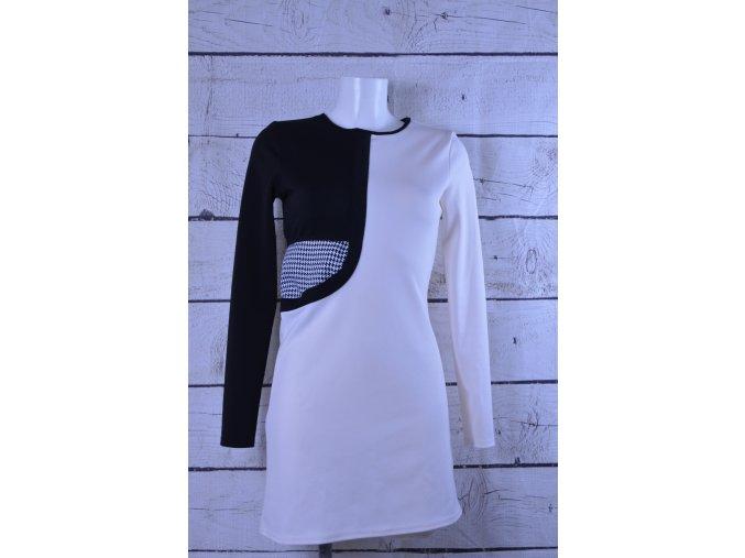 Malabay černobílé šaty