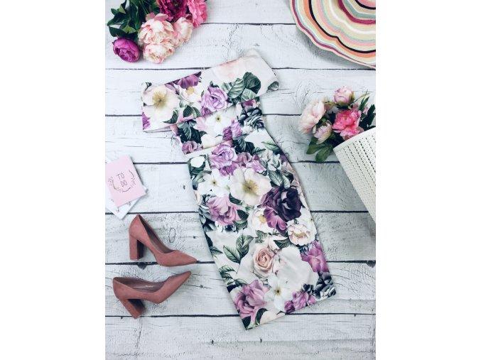 Květované společenské šaty ASOS