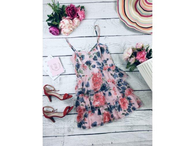 Květované šaty s volány George