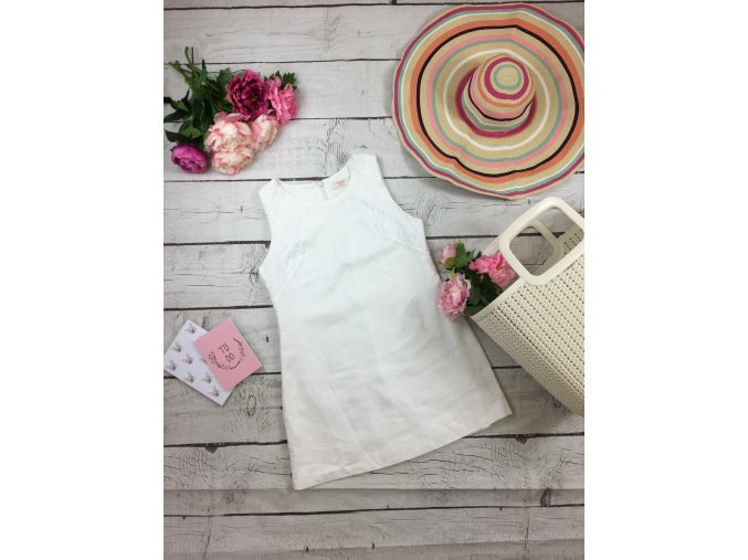 Kratší bílé šaty NEXT