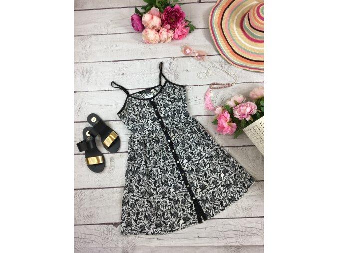 Letni šaty černo-bílé Atmosphere