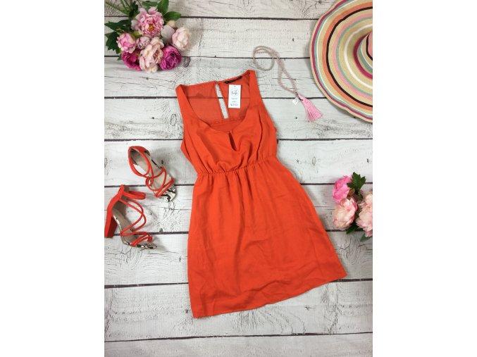Krátké oranžové šaty Zara