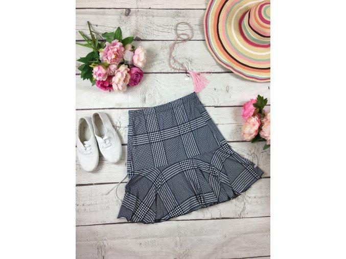 Modro-bílá sukně se stahovacími tkaničkami